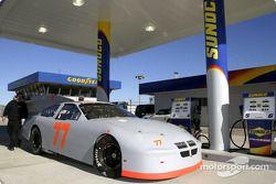 Ryan Hemphill était le premier pilote à utiliser les nouvelles pompes à essence Sunoco au Daytona International Speedway