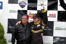 The podium: Jorge Diaz Jr.