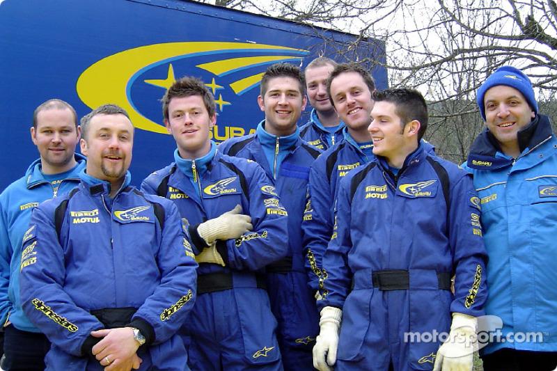 Subaru World Rally team members