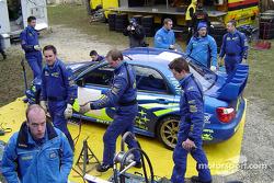 Subaru World Rally Team service area in Monte Carlo