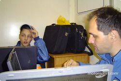 Mikko Hirvonen et son ingénieur Michael Zotos