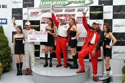 Podium: race winner Bill Auberlen with Randy Pobst and Hans Stuck