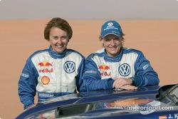 Jutta Kleinschmidt and Fabrizia Pons