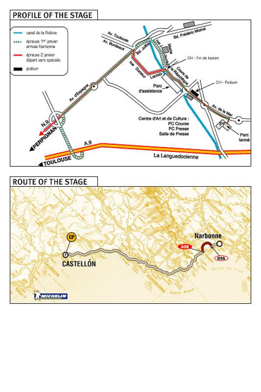 2e étape : 2 janvier, Narbonne - Castellon