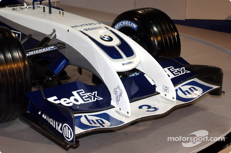 Le nez de la nouvelle WilliamsF1 BMW FW26