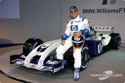 Juan Pablo Montoya avec la nouvelle WilliamsF1 BMW FW26