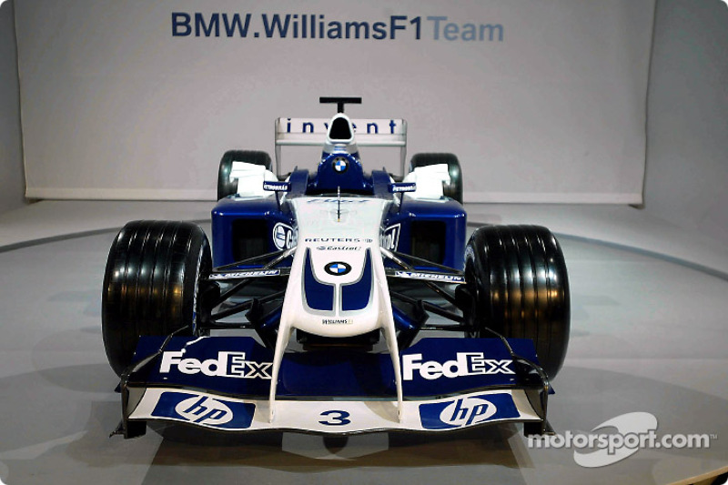 Visión delantera del WilliamsF1 BMW FW26