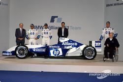 Patrick Head, Juan Pablo Montoya, Marc Gene, Mario Theissen, Ralf Schumacher und Frank Williams