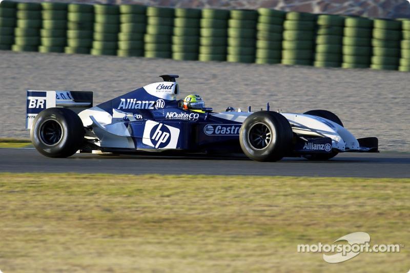 Ralf Schumacher essaie la nouvelle WilliamsFW BMW FW26