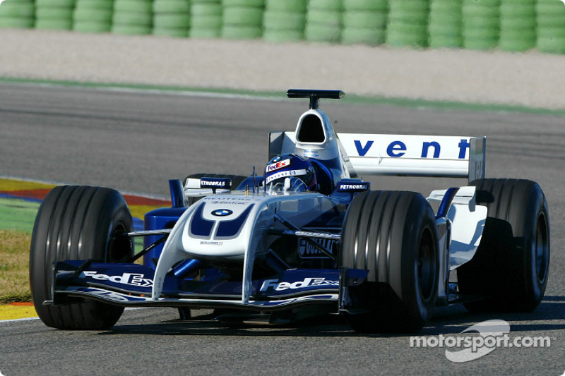 Juan Pablo Montoya essaie la nouvelle WilliamsF1 BMW FW26