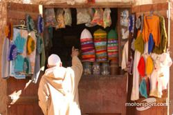Un souk au Maroc