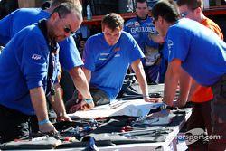 Le parc d'assistance Gauloises Racing