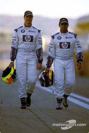 Ralf Schumacher and Juan Pablo Montoya