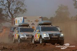 Des véhicules d'assistance Volkswagen Motorsport