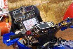 Vue rapprochée de la Yamaha WR450F