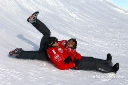 Rubens Barrichello ve Luca Badoer have fun