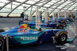 Previous Sauber chassis on display