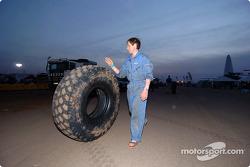 Oversized BF Goodrich truck tire
