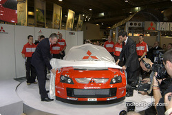 The new Mitsubishi Lancer WRC04 is unveiled
