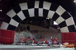 Kart race: finish line