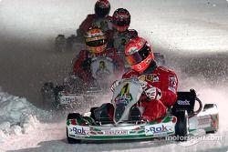 Kart race: Michael Schumacher leads the field