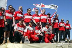 Hiroshi Masuoka et Gilles Picard célèbrent leur 2e place