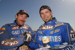 Alfie Cox et Cyril Despres