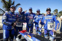 Les pilotes Gauloises KTM font la fête