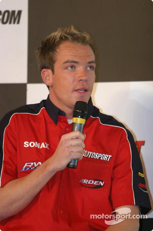 Interview de Robert Doornbos sur la scène Autosport