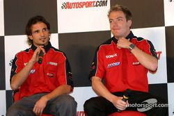 Interview de Vitantonio Liuzzi et Robert Doornbos sur la scène Autosport