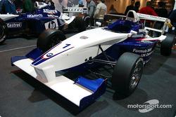 Formula BMW car on BMW stand at Autosport International