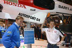 Petter Solberg and Anthony Davidson in Subaru at Autosport International