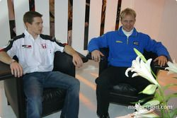 Petter Solberg et Anthony Davidson avec BAR à l'Autosport International