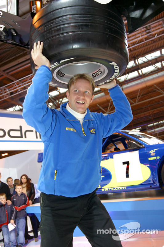 Petter Solberg with BAR at Autosport International