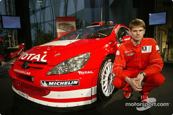 Peugeot 307WRC launch in Paris: Marcus Gronholm