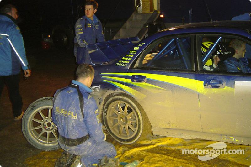 Subaru World Rally Team service area near Monte Carlo