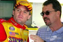 Kenny Wallace et le vainqueur du Daytona 500 1991 Ernie Irvan
