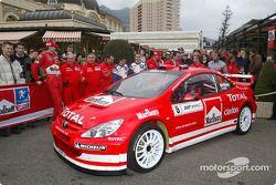 Présentation de Marlboro Peugeot à Monaco