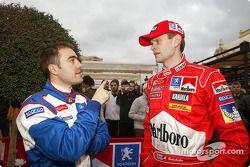 Nicolas Vouilloz et Marcus Gronholm