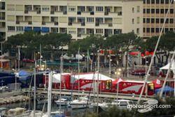 Le paddock à Monte-Carlo