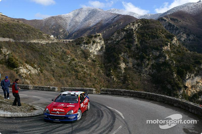 Sébastien Loeb, en el Rally de Montecarlo 2004