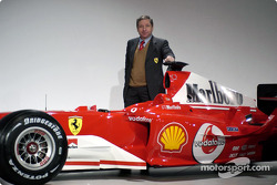 Jean Todt with the new Ferrari F2004