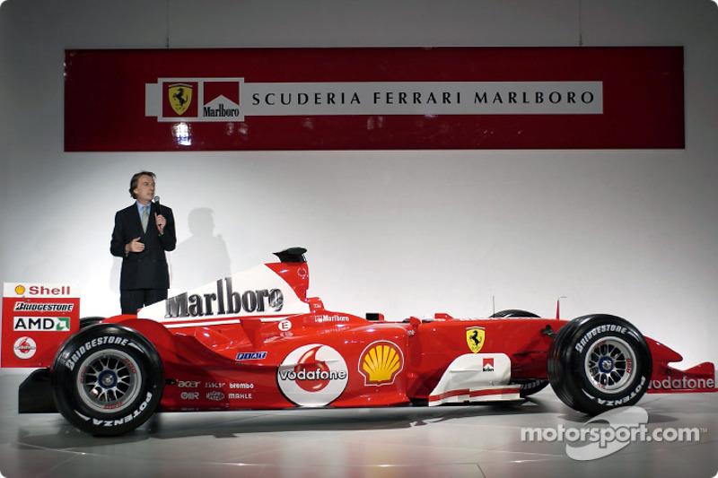 Luca di Montezemelo yeni Ferrari F2004