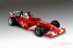 La Ferrari F2004 alla presentazione di Maranello