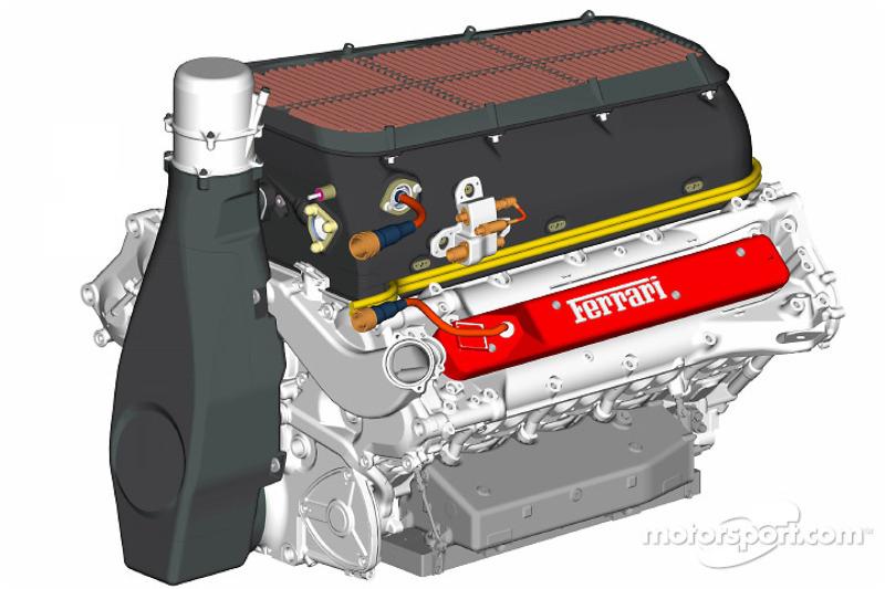 yeni Ferrari F2004 motor
