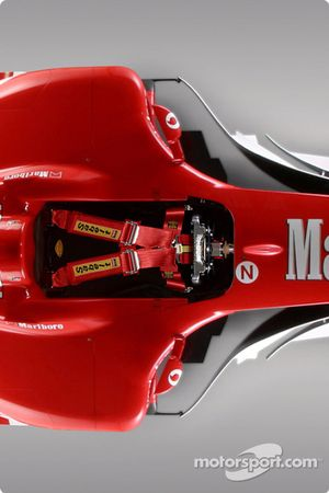 Detail of the new Ferrari F2004