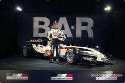 Takuma Sato with the new BAR 006