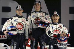 Anthony Davidson, Jenson Button et Takuma Sato