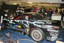 Specter Werks / Sports work on the Corvette in the garage area