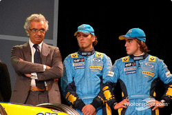 Flavio Briatore, Franck Montagny et Fernando Alonso